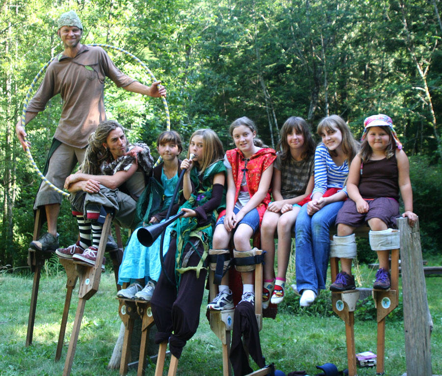 Kids Stilt camp 2012