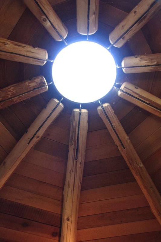Hub of rafters