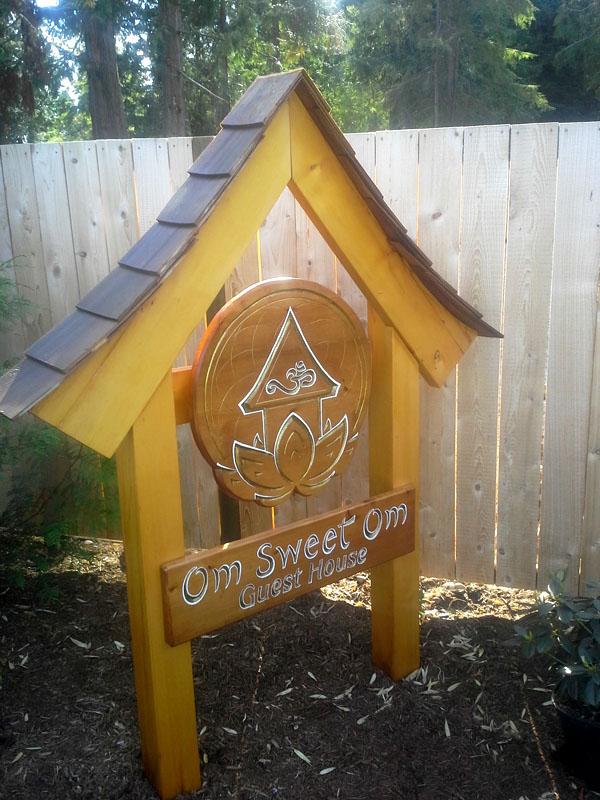 Cedar Om Sign